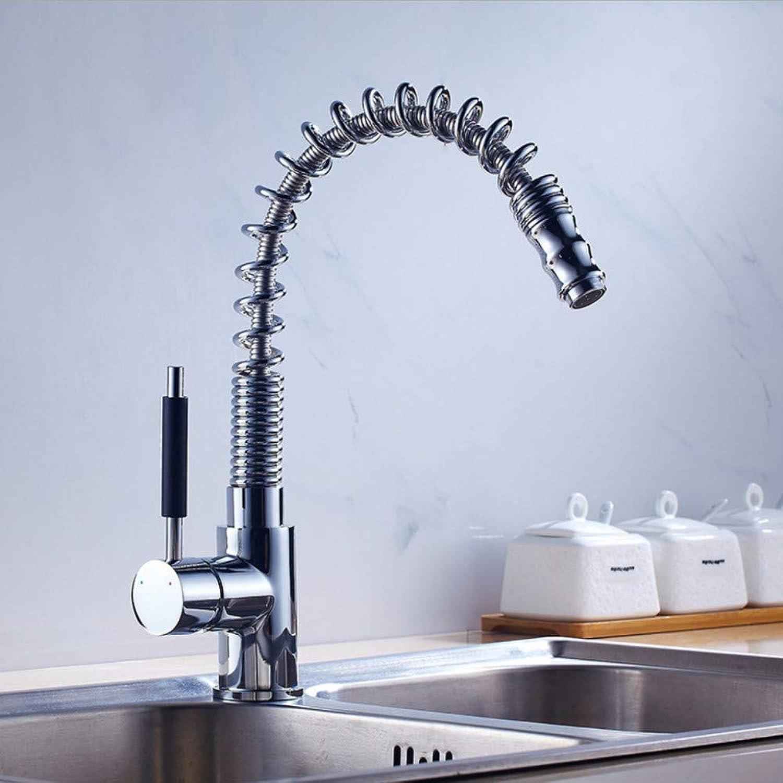 Faucet European Kitchen Faucet Water Mixing Spring Faucet, Single Spring Faucet