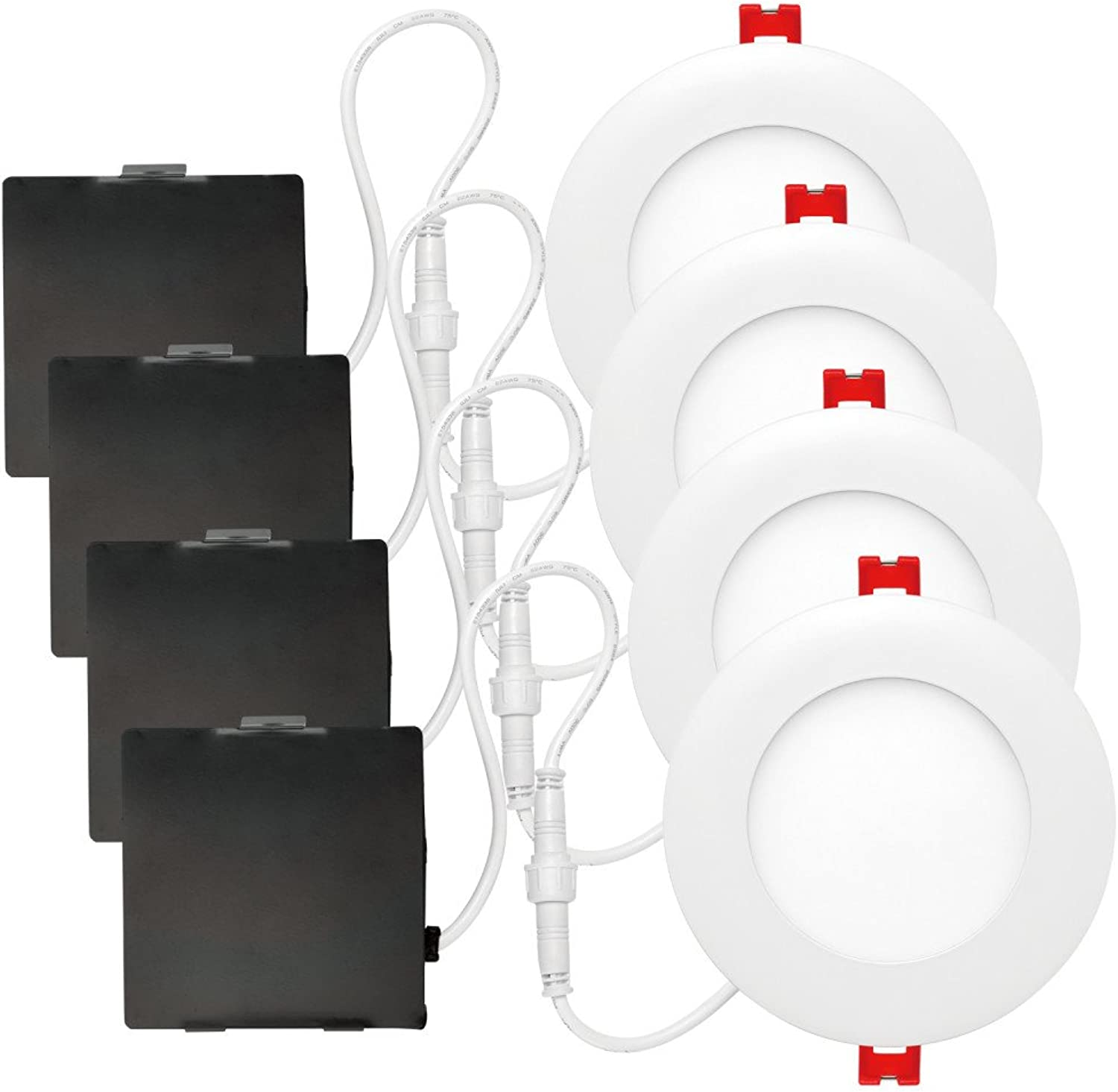 Globe Electric 91260 Recessed Lighting, 4 Pack, White
