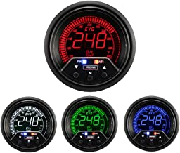 Prosport Gauges Oil Temperature Gauge- Electrical Digital Green/White/red/Blue Premium EVO Series 60mm (2 3/8