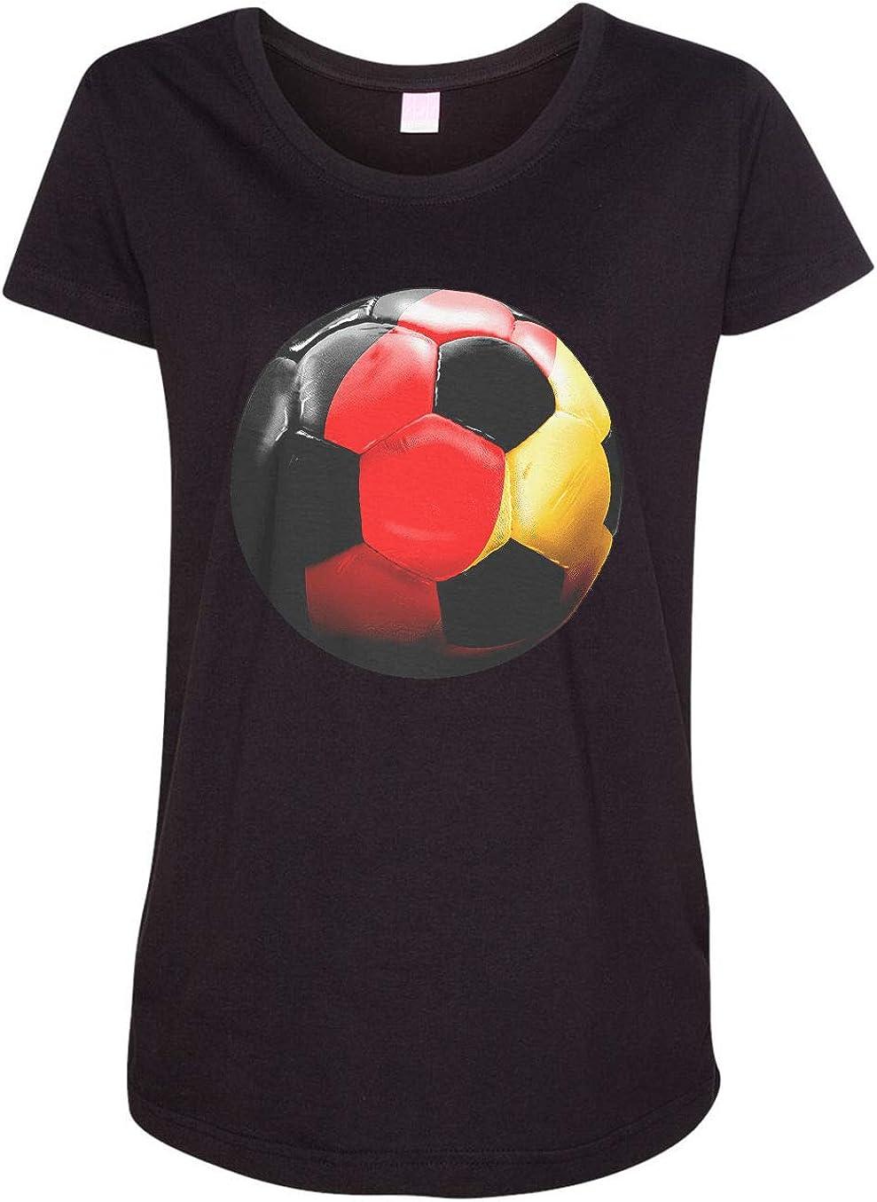 HARD EDGE DESIGN Women's Germany Soccer T-Shirt
