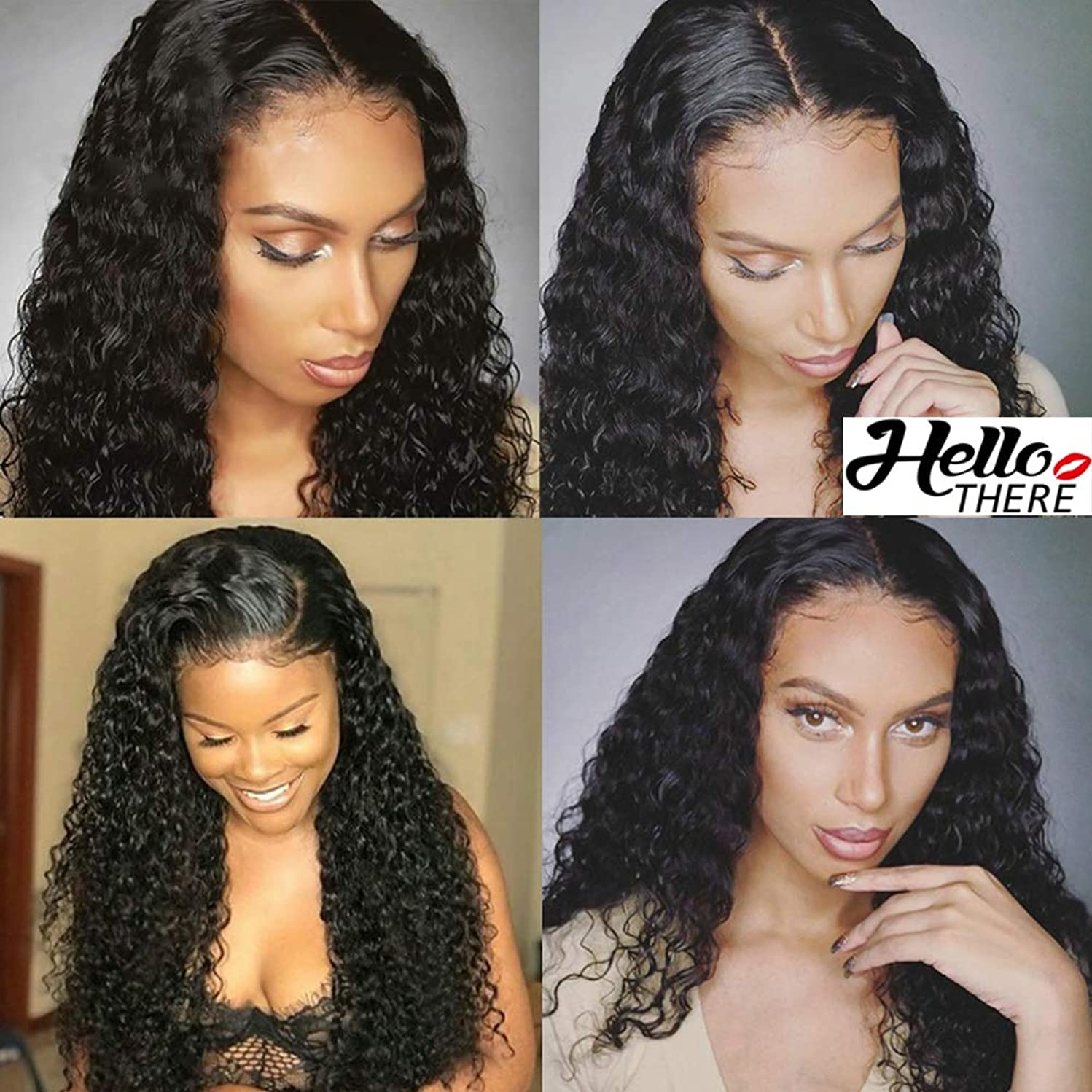 360 Lace Frontal Wigs Pre Plucked 180% Density Brazilian Virgin Water Wave Human Hair Wigs for Black Women 16 inch Natural Color