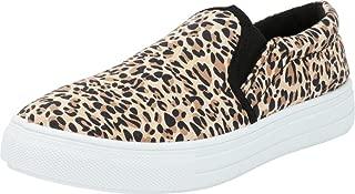 Cambridge Select Women's Round Toe Slip-On White Sole Flatform Fashion Sneaker
