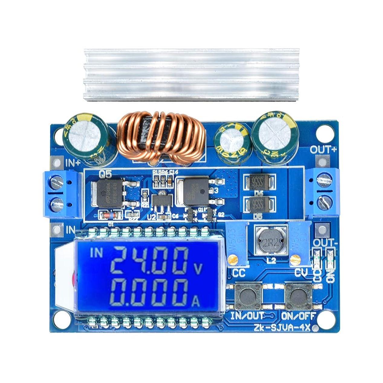 収束するガラスバレル昇降圧コンバータ DiyStudio 自動昇降圧ボード DC 5.5-30V 12V to DC 0.5-30V 5v 24v 調整可能な定電流電圧 ステップアップ電圧レギュレータ 4A 35W 電源モジュール