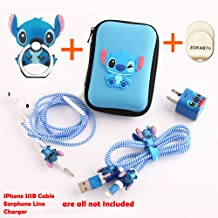 ZOEAST(TM) Stitch Set DIY Protectors Apple Data Cable USB Charger Data Line Earphone Wire Saver Protector Compatible iPhone 5 5S SE 6 6S 7 8 Plus X IPad iPod iWatch (Upgrade Styles, Stitch)