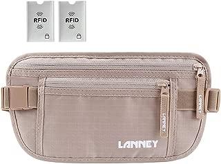 Travel Money Belt Waist Wallet RFID Blocking Passport Holder for Men Women