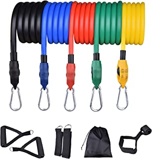 Resistance Bands Set, TOPFEE Exercise Bands with 5 Tube...