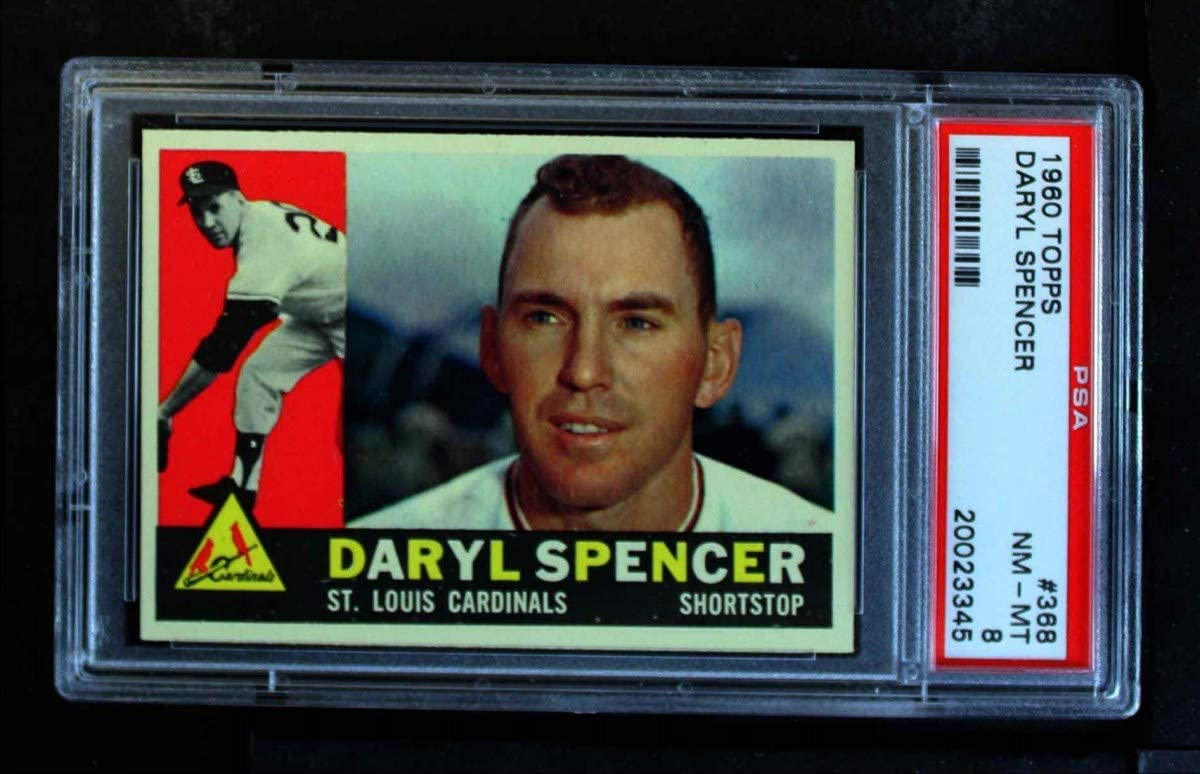 1960 Topps # 368 Daryl Spencer Louis Baseball Free shipping / New Cardinals Car St. New mail order