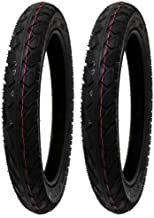 MMG Set of 2 All-Terrain Tread Tire Size 16x2.50 (65-305) Fits Electric Bikes (e-bikes), Kids Bikes, Small BMX and Scooters Fits 12 Inches Rims