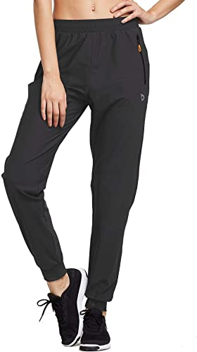 BALEAF Women's Athletic Joggers Quick Dry Running Hiking Workout Pants Zipper Pockets