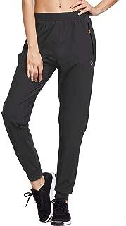Women's Athletic Joggers Pants Dry Fit Running Sweat Pants Zipper Pockets Sports Sweatpants