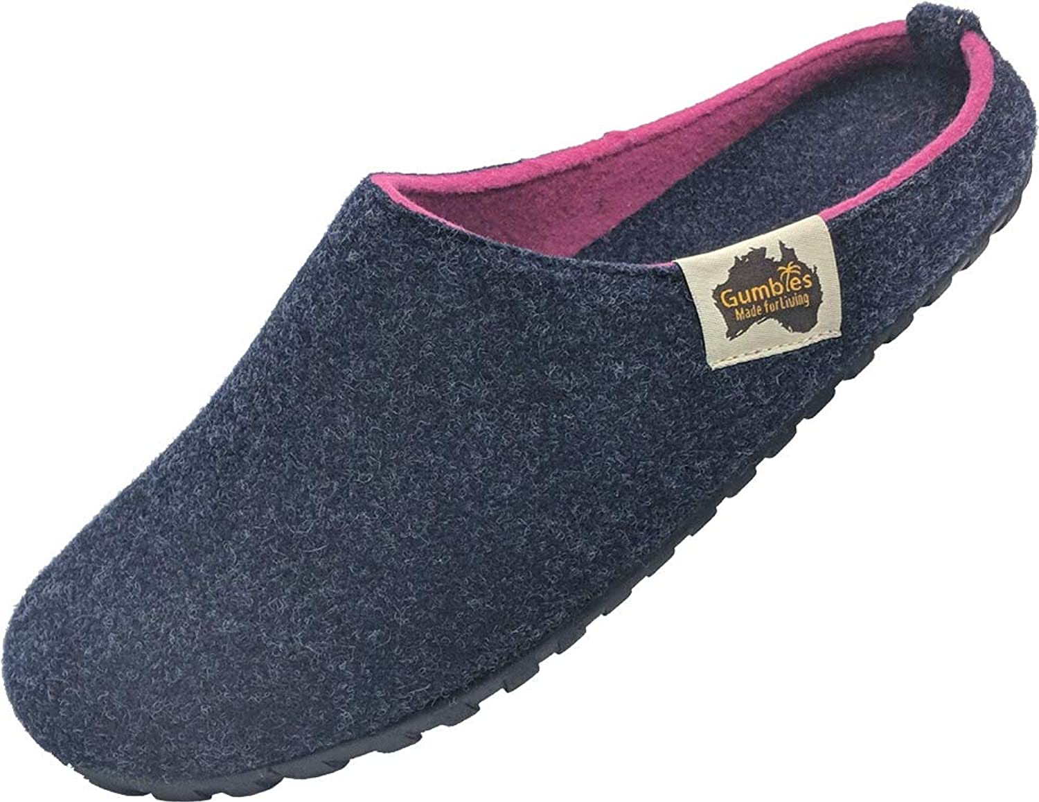 Gumbies - Outback Slipper - Navy & Pink