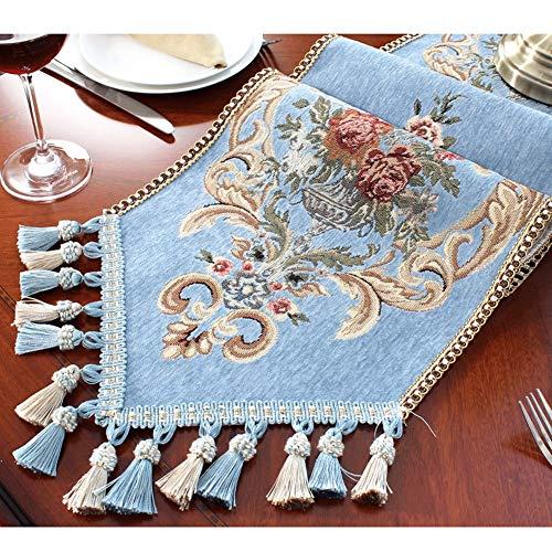 Tafelloper tafelloper, Chenille Jacquard-stof, prachtige Botanische bloemen en streleenheden, Europese tafelkleden, decoreren eettafels, bruiloften, feesten ++ 30X240cm I