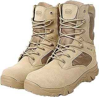 MWbetsy Scarponcini da Trekking da Uomo Stivali di Tela da Combattimento Tattici Militari Scarpe da Trekking da Donna con Sneaker da Arrampicata da Trekking con Cerniera Laterale Alta