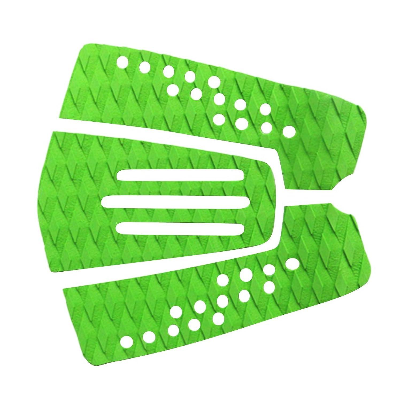 ノーブランド品  全2色 3枚セット マリン サーフィン サーフボード デッキグリップ トラクションパッド デッキパッド - グリーン
