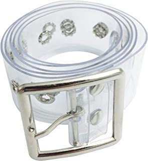 Fashion PVC Wide Transparent Clear Jelly Waist Belt with Fancy Buckle for Women and Girls