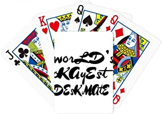 World's Okayest Deskmate Graduation Season Poker Playing Magic Card Fun Board Game