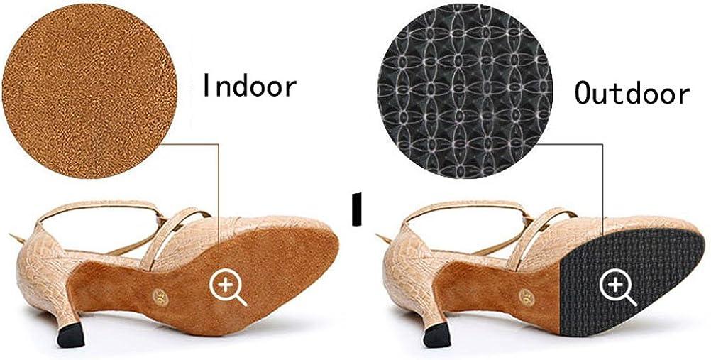 Womens Peep Toe Dance Shoes Latin Dance Heels Cha-cha Tango Ballroom Custom Heel Height Black US 3.5