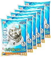 アイリスオーヤマ 猫砂 ペーパーフレッシュ トイレに流せる 固まる PFC-7L (紙製) 7リットル (x 6) (ケース販売)