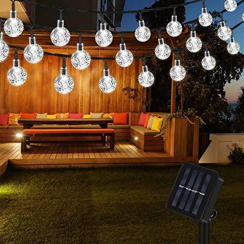 Vegena 7M 50 LED Guirnaldas de Luces Exterior Solar, IP65 Impermeable 8...