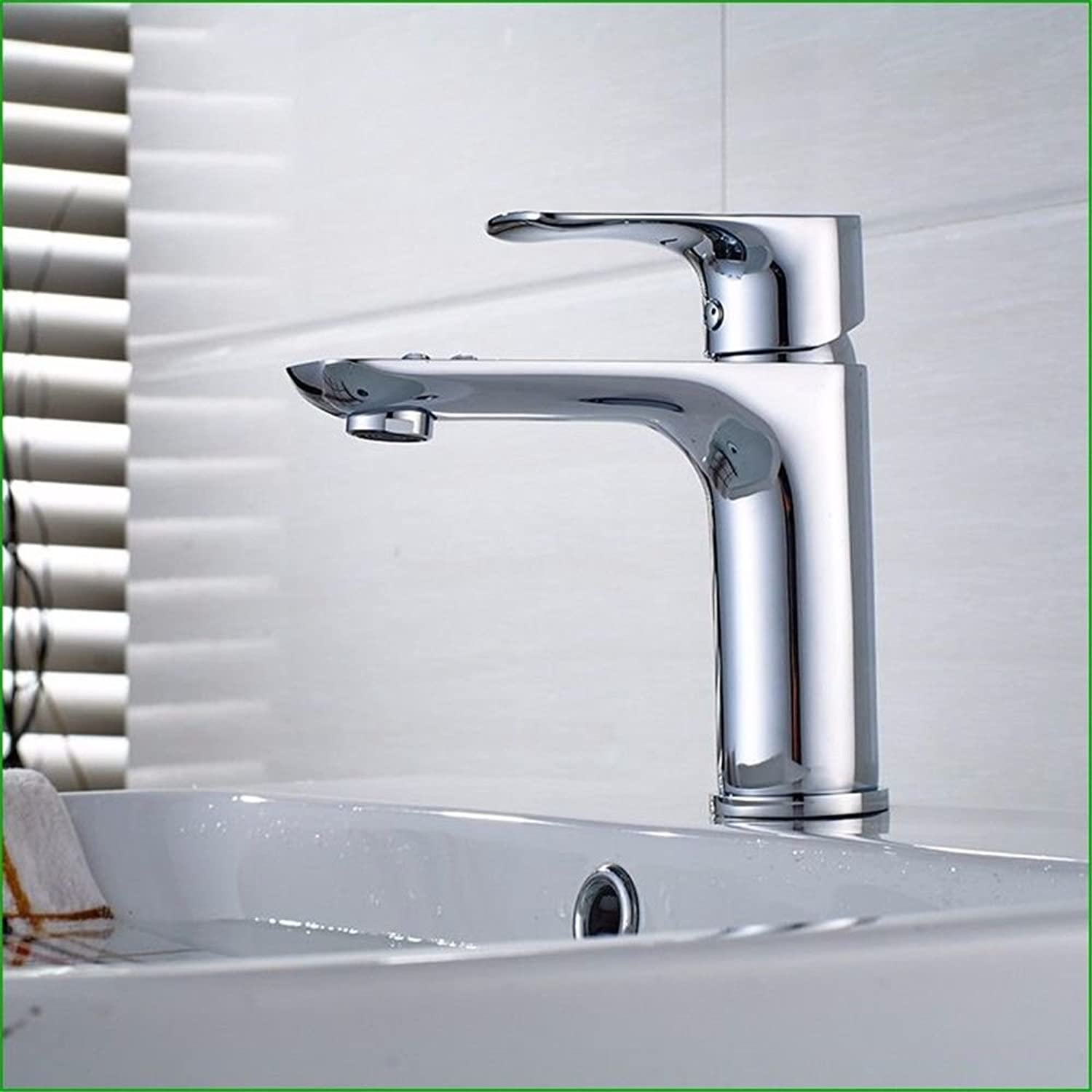 Lalaky Taps Faucet Kitchen Mixer Sink Waterfall Bathroom Mixer Basin Mixer Tap for Kitchen Bathroom and Washroom Copper Copper Main Body Hot and Cold Single Handle Single Hole