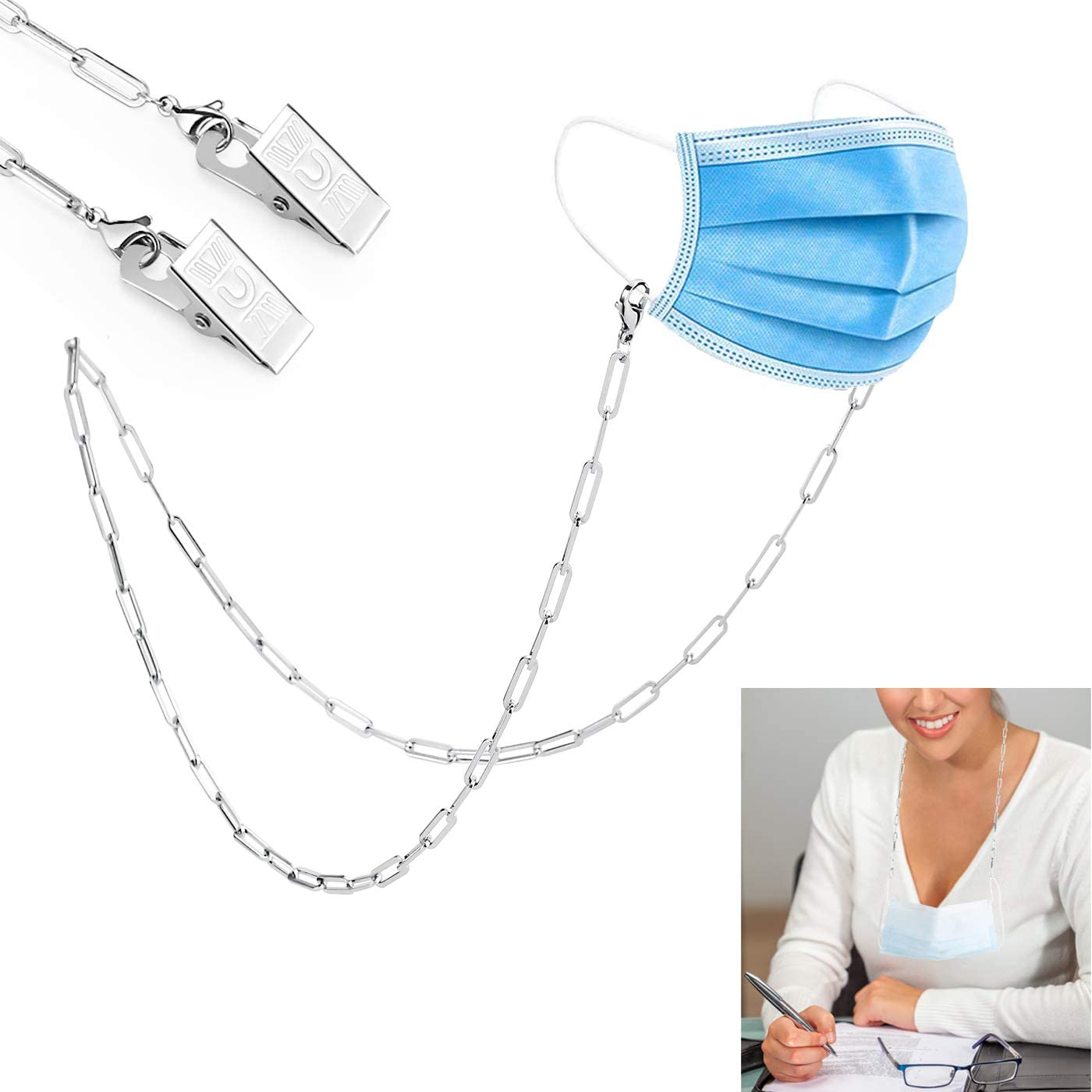 TONY & SANDY Face Mask Lanyard Necklace Chain Strap Holder Mask Hanger Retainer Rest Accessory Jewelry for Women Teen Girls