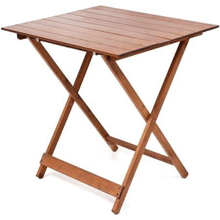 vidaXL Legno Massello di Acacia Tavolo da Giardino Pieghevole Tavolino da Esterni Mobili da Giardino Arredo da Esterni Arredamento Patio 110x67x74 cm
