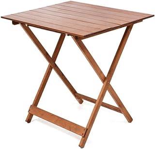 Table pliante en bois 60 x 80 cm, hauteur réglable, couleur noyer brillant, table de jardin de balcon