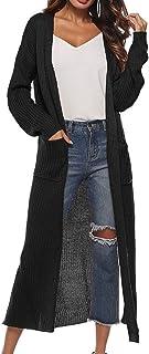 Guy Eugendssg Spring Autumn Women Long Sleeve Knitwear Warm Sweater Cardigans Knitted Outerwear Pockets