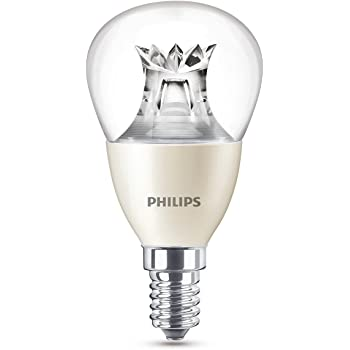 Philips Lighting Bombilla gota Vela LED de luz cálida, 6W/40 W ...