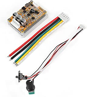 Brushless Motor Controller, 5V-36V 350W DC Brushless Motor Controller BLDC PWM Driver Board with Cable Control Board Module
