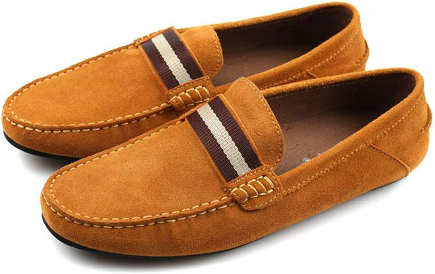 Santimon-Men's Gentleman Nubuck Leather Causal Leisure shoes Loafers