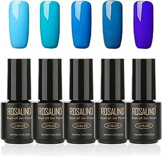 ROSALIND Esmalte de uñas de gel semipermanente Soak Off UV