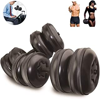 Weights Dumbbells Set Adjustable Water Filled,Travel Dumbbell Barbell Equipment/Adjustable weight up to 45lbs/Portable 1KG(2.2lb)after folding for Core Home Gym Workout Exercise Fitness Weightlifting