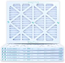 16x20x1 Air Filter 6-Pack, Pleated MERV 10 By Glasfloss - Removes Dust, Pollen and Many Other Allergens - Made in USA