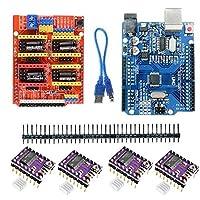 YANHUA UNO R3 Board for Arduino Compatible + CNC V3 Shield + 4x DRV8825 Driver