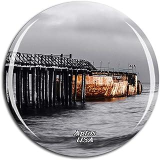 Weekino America USA Beach Aptos Fridge Magnet 3D Crystal Glass Tourist City Travel Souvenir Collection Gift Strong Refrige...