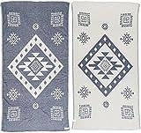 Bersuse 100% Cotton Veracrus Toalla, Algodón, Azul, 37x70 Inches
