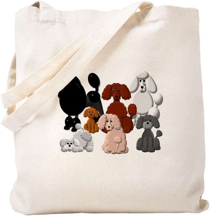 CafePress TINY POODLE PACK COLLAGE Canvas Charlotte Mall Tote Natural Super Special SALE held Bag