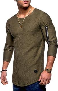 [パリド] 薄手 アームジッパー ロンT スウェット Tシャツ 長袖 カットソー スリム フィット メンズ S ~ 4XL