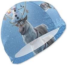 MaryTiTi Frozen-Olaf Kids Swim Caps Cute Swimming Pool Hat No-Slip Swim Goggles for Children Boys Girls