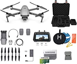 DJI Mavic 2 Pro with DJI Smart Controller Drone Bundle with One Extra Battery, Landing Pad, 128GB SD Card, Waterproof Hard Carrying Case