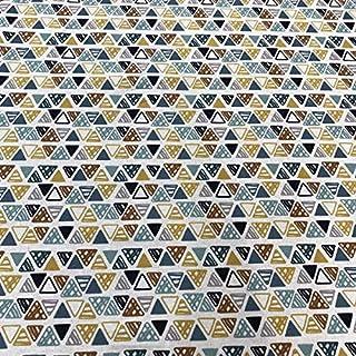 Tela por metros de loneta culla estampada digital - Ancho 280 cm - Largo a elección de 50 en 50 cm | Triángulos
