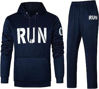 طقم ملابس رجالي من ANNANONER لباس كاجوال طويل الأكمام سويت سوت رياضي للركض