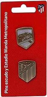 C Y P Pin Set 2 Uds Escudo y Metropolitano Atlético de Madrid