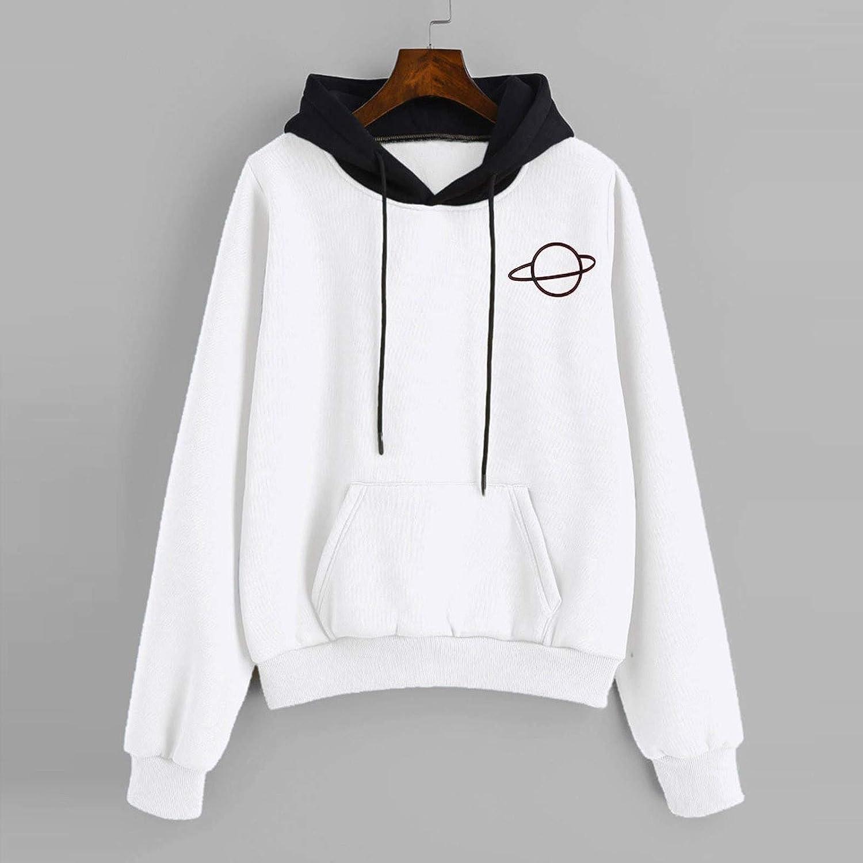Aniwood Hoodies for Women Pullover Teen Girls Hoodies Crop Top Long Sleeve Hooded Pullover Vintage Sweatshirts Tops