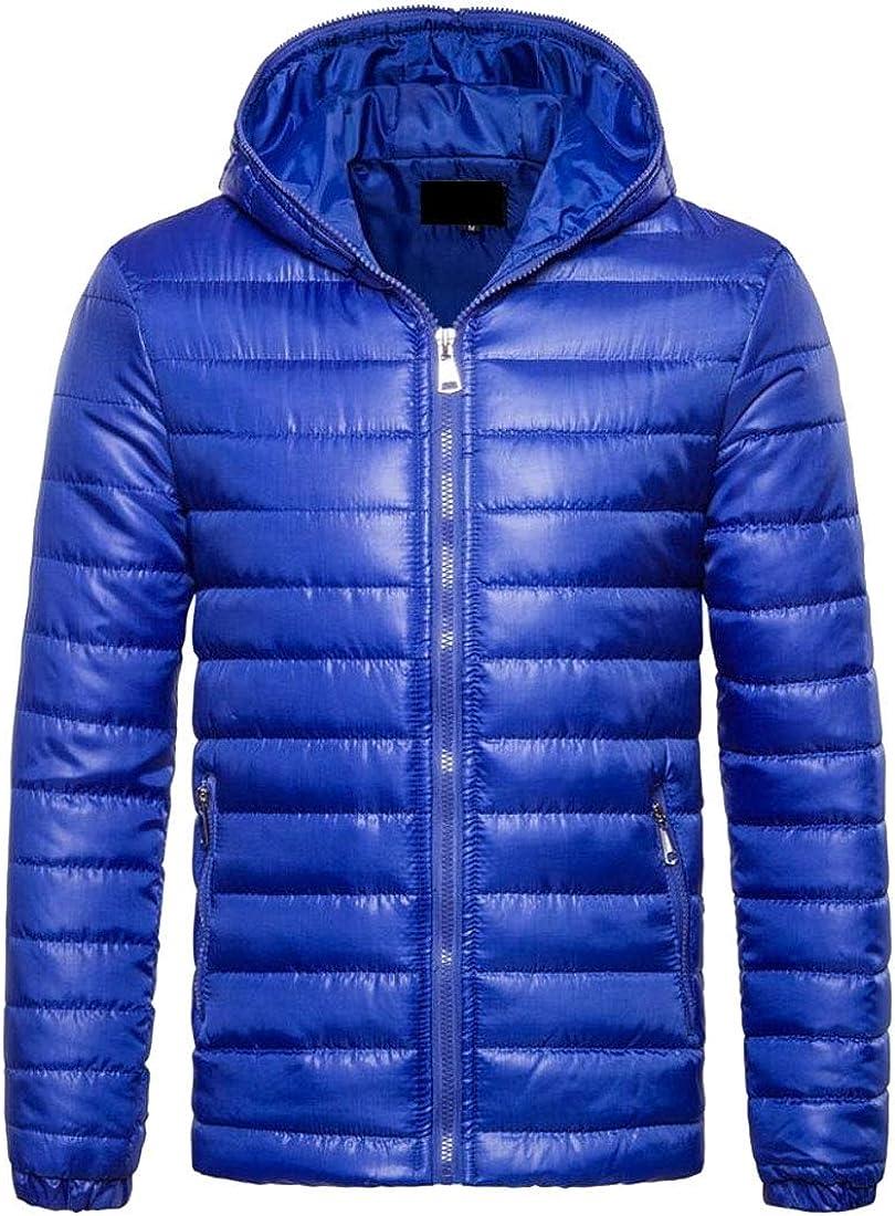 Beloved Mens Packable Zipper Hooded Puffer Down Jacket