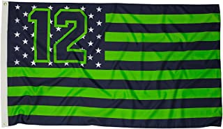12 Nation Seattle Fan Flag 3 by 5 Feet