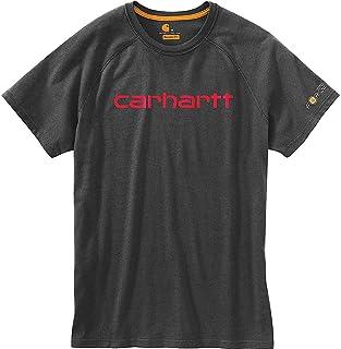カーハート トップス シャツ Carhartt Men's Force Cotton Delmont Grap Carbon Hea 1o7 [並行輸入品]