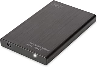 "DIGITUS - Hardeschijfbehuizing SSD/HDD - 2,5"" - USB 2.0 - SATA III - tot 2 TB - zwart"