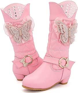 LaBiTi Baby Girls Snow Fur Shoes Boots Waterproof Warm Children Kids High Boots